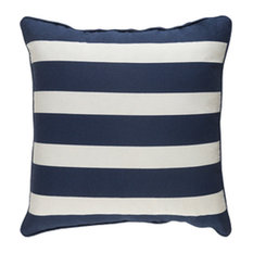 Glyph Accent Pillow, Navy and White