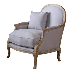 Luca Fabric Accent Chair Transitional Armchairs And