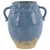 "Modern 21""x15"" Gray Stoneware Pot Planter"