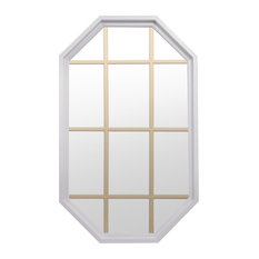 Tall Rambler 4 Season Poly Window With Grille, White, Clear Insulated Glass