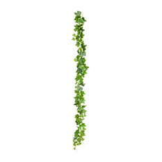 "71"" Green Frosted Ivy Vine 142 Leaves, Set of 3"