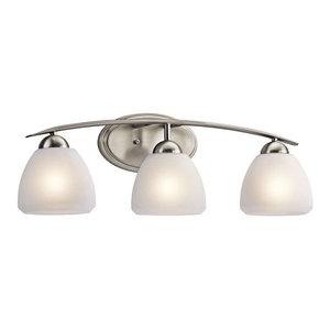 Kichler Calleigh Bath 3-Light, Brushed Nickel