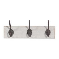 Maisons du monde - Colgador con 3 ganchos de madera CONVENTION - Ganchos para albornoces y toallas