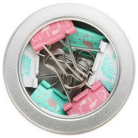 Fashion Printing Flamingo Pattern Metal Clips Simple Cute Binder Clips, 6-Piece