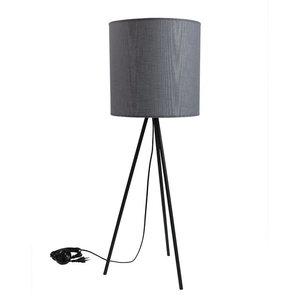 Narrow Fabric Table Lamp, Grey