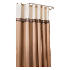 Lush Decor - Terra Shower Curtain, Beige and Ivory - Shower Curtains