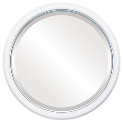 Transitional Bathroom Mirrors by The Oval & Round Mirror Store