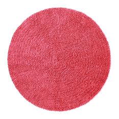 Pink Shagadelic Chenille Twist Rug, 3' Round
