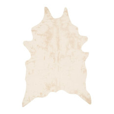 """Southwestern Faux Cowhide Grand Canyon Area Rug, Ivory, 6'2""""x8'"""