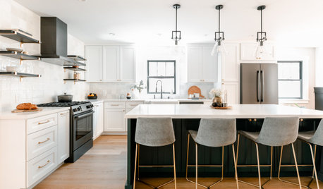 Kitchen of the Week: Better Sightlines and a Touch of Rich Green