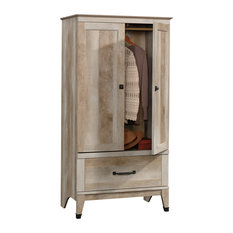 Sauder - Carson Forge Armoire, Lintel Oak - Armoires and Wardrobes