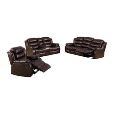 Kameno Sofa Set Featuring Loveseat With Console