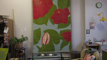 Hibiscus Floor Cloth