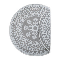 DII Gray Floral Outdoor Rug 5' Round