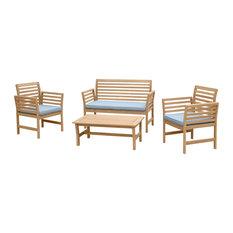 Yuri 4-Piece Seating Set, Blue
