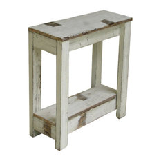 Doug And Cristy Designs   Farmhouse End Table, White   Side Tables And End  Tables