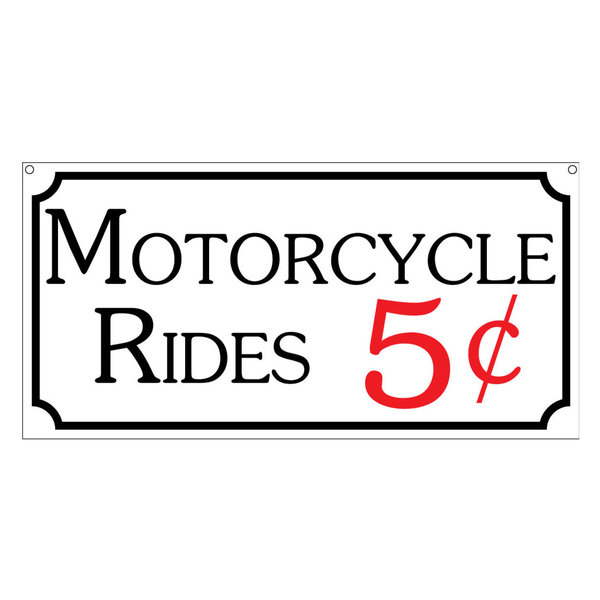 Motorcycle Rides Aluminum Sign, Transporation Bar Man Cave Novelty, 6