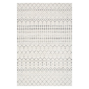 Moroccan Blythe Contemporary Area Rug, Gray, 9'x12'