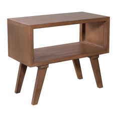 Fancy Scandinavian Bedside Table, Cinnamon