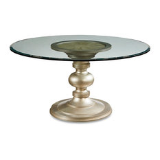 A.R.T. Home Furnishings Morrissey Wallen Round Dining Table, Glass Top, 60""
