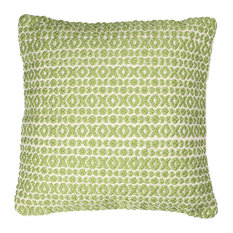 Structure Hugs & Kisses Pillow, Green, 18""