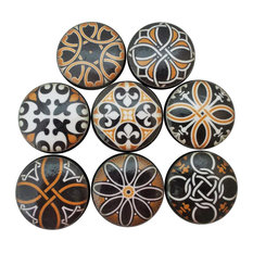 8-Piece Set Spanish Mandala Cabinet Knobs
