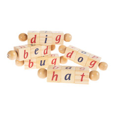 Twist Blocks-Early Learning Wooden Alphabet Letter by Hey! Play!