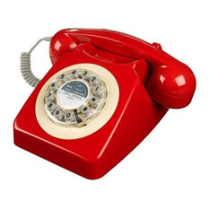 Wild & Wolf Series 746 Telephone, Red