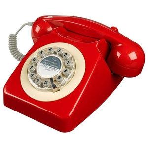 Wild & Wolf Series 746 Telephone, Red
