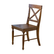 GDF Studio Leyden Brown Wood Dining Chairs, Set of 2