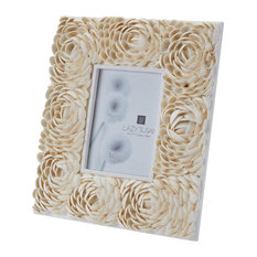 dimond home dimond home 5x7 natural shell flower pattern frame picture frames