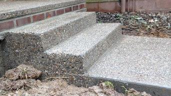 Scott sidewalk, porch and steps