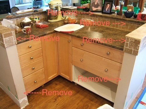 Removal Of Kitchen Island Surround