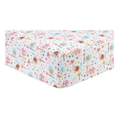 Trend Lab Playful Elephants Deluxe Flannel Fitted Crib Sheet