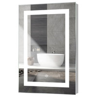 "Kent LED Mirror With Touch Sensor, 18""x30"""