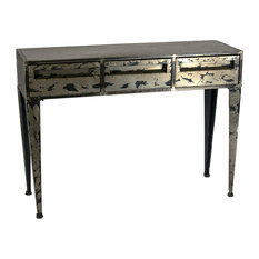 sagebrook homes metal console table gray kd console tables - Metal Console Table