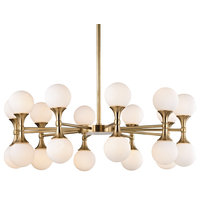 Astoria 20 Light Chandelier, Aged Brass