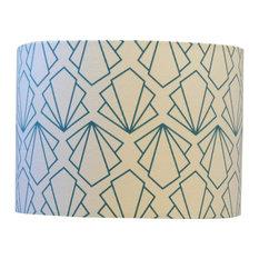 Sunbeam Drum Table Lampshade, Turquoise, Extra Large