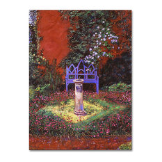 "David Lloyd Glover 'The Old Sundial' Canvas Art, 35""x47"""