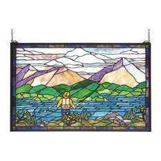 Meyda Tiffany 73649 Sportsman Stained Glass Tiffany Window