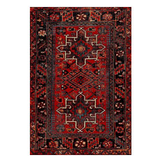 Vintage Hamadan Vth211A Red and Multicolored Rug, 9'x12'