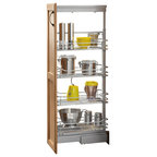 Rev-A-Shelf Pull Down Shelf, Chrome - Traditional - Pantry And Cabinet Organizers - by Rev-A-Shelf