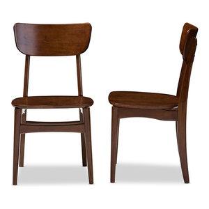 Netherlands Dark Walnut Bent Wood Dining Side Chair, Set of 2
