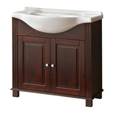 1st Avenue Abberton 2 Door Bathroom Vanity In Natural Wood 33 46