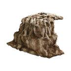 "Luxe Faux Fur Throw Blanket, Amber Fox, 58""x84"""