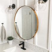 Cheyenne Framed Round Mirror, Gold