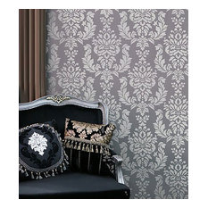 cutting edge stencils verde damask wall stencil allover wall patterns for diy wall stenciling - Bedroom Stencil Ideas