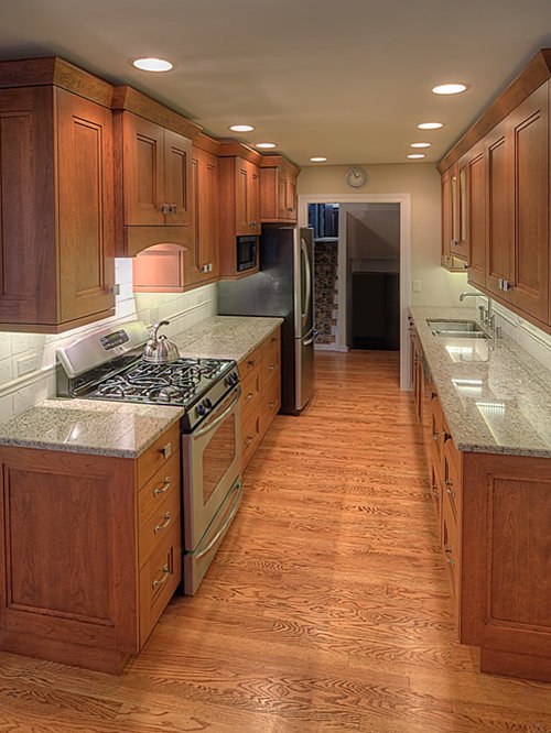 Wide galley kitchen ideas pictures remodel and decor Kitchen design ideas for small galley kitchens