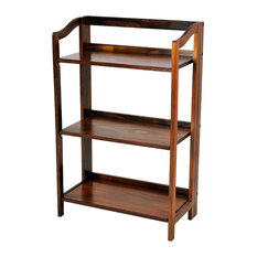 Casual Home Stratford 3 Shelf Folding Bookcase Warm Brown