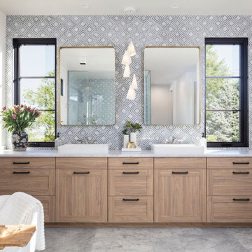 French Modern Spec Home-Master Bath Vanity